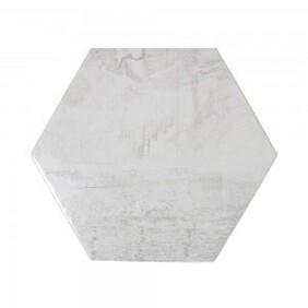 Hickory Hexagon - White