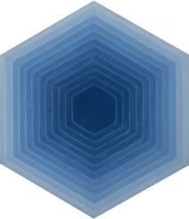 Four Elements - Hexagon - Blue