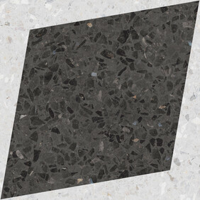 Natural Drops Rhombus Decor - Graphite