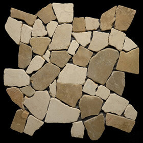 Beige & Tan Marble Large Random tiles